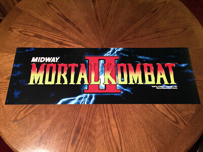 "Mortal Kombat II 2 classic arcade video game huge 36"" marquee style wall poster"