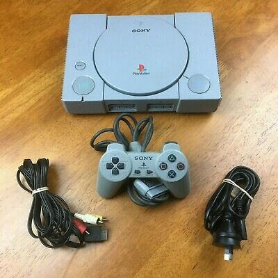Sony PlayStation 1 PS1 + Controller + Cords - FREE POST