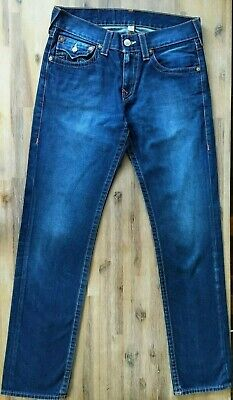 Awesome TRUE RELIGION ROCCO Skinny Blue Zip Fly Men`s Jeans SIZE 32 RRP $311.78