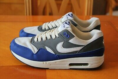 41 Size Max Eu Excellent Blue Uk Whiteamp; Trainers Condition Nike Air Grey 7 1 q4AjLR35