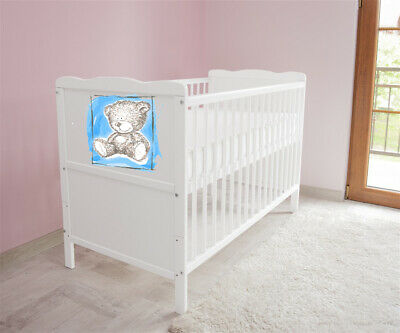 New White Wodden Baby Cot Bed / mattress / teething rails /   nr 41