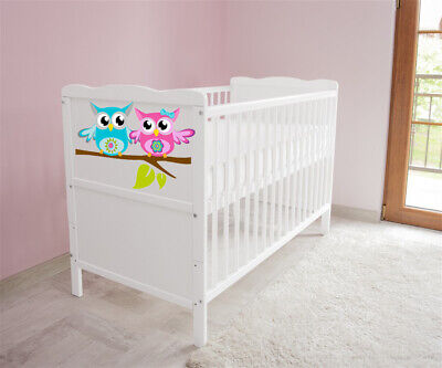 New White Wodden Baby Cot Bed / mattress / teething rails /   nr 45