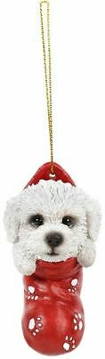 Bichon Frise Christmas Decoration/Ornament Stocking Gift/Present Dog