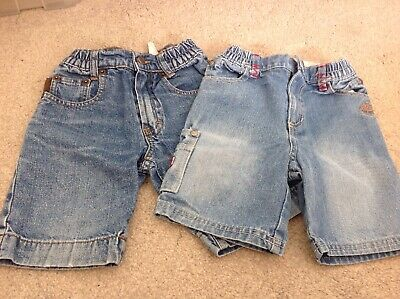 2 Pairs Of Timberland Boys Denim Shorts Age 3 (seller Away Until 17/08)