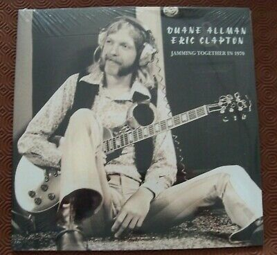 """Duane Allman & Eric Clapton """"Jamming Together In 1970"""" Double Lp Layla Sessions"""