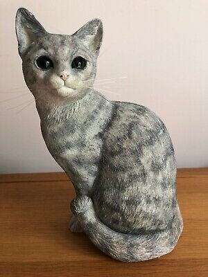 Border Fine Arts Cats & Kittens Galore Large Sitting Silver Tabby Cat