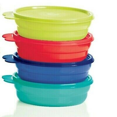Tupperware Microwave Reheatable Cereal Bowls w/ Seals - Brand NEW Multi Color /
