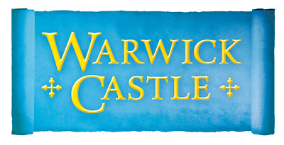 2  x WARWICK CASTLE tickets all 9 code to pick your own date with sun savers.