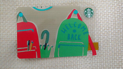 Starbucks Gift Card Back to School Fall 2018 Never used No value
