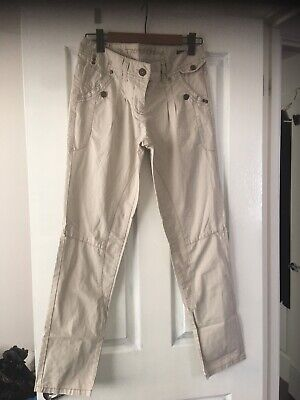 Next Chinos Beige Combat Trousers 12 Regular Worn Once