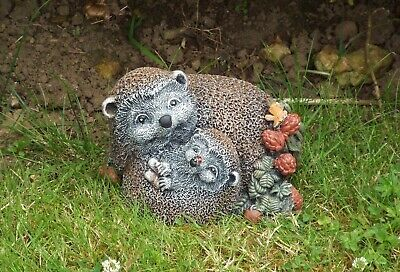 Latex Rubber  Mould  Mother & Baby Hedgehog Garden Ornament