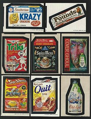 Topps Wacky Packages Lot of 8 Miscuts