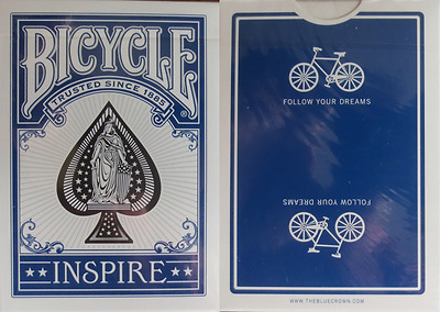 Bicycle Inspire (blue) Playing Cards - Limited Marked Deck Edition – SEALED