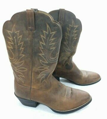 45d288d2daf ARIAT WOMENS HERITAGE R Toe Cowboy Western Boot Distressed Brown ...