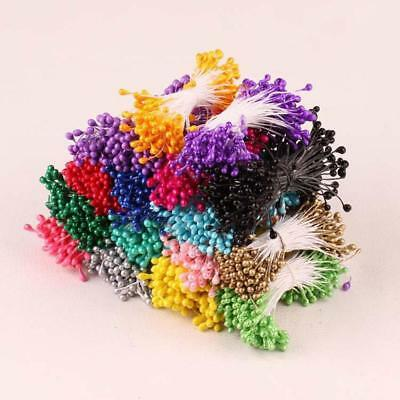 Matt Double Heads Eco Friendly Artificial Flower Stamen 280 pcs Sugarcraft New