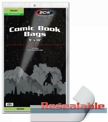 """BCW Graded Resealable Comic Book Bags (9"""" x 14"""") - Qty. 1,000"""