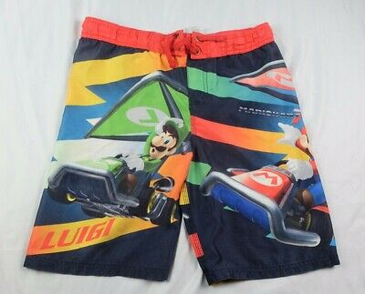 068a6edf2a Nintendo Mario Kart Swimming Trunks Boys Youth Sz Medium Board Shorts Mario  Red