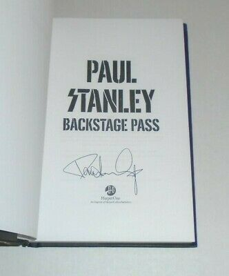 Kiss Paul Stanley Backstage Pass Signed Autographed Book