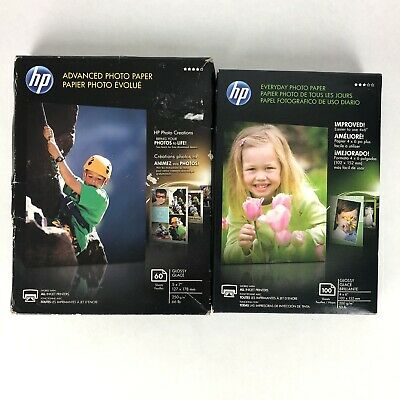 """HP Everyday Photo Paper Glossy 4"""" x 6""""  (100 Sheets)  Inkjet New, Free Shipping"""