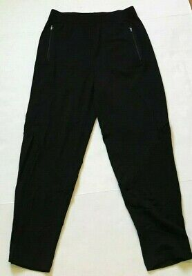 Eileen Fisher Pants Tencel Skinny Jogger Zip Pockets Knit Black Size Ps S Small