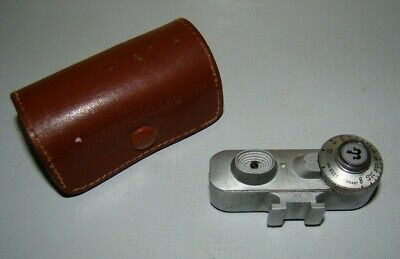 Vintage PHOTOPIA Camera Range Finder Attachment in Leather Case