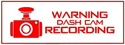 "Camera Security System Recording in this Vehicle Decal//Sticker 3.25x3.25/"" p133"