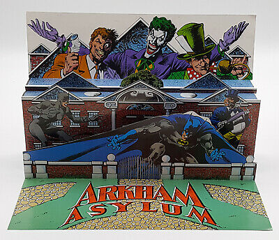 Lot of 3 BATMAN Promo Items Arkham Asylum Dishonor Roll Popup, and 2 Posters