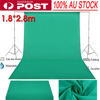 5.9*9.2ft Photography Chromakey Backdrop Studio Cotton Stand Screen Green HOT