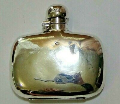 Antique James Dixon & Sons Sterling Silver Small Spirit Flask, Hip Flask ,19th C