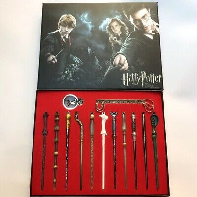 New Style 11 PCS Harry Potter Hermione Dumbledore Snape Magic Wands With Box