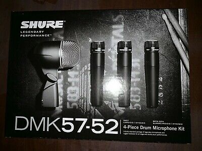 Shure dmk57-52 drum microphone kit Brand New!