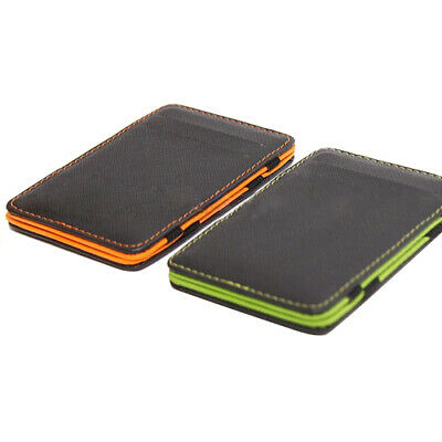 Fashion Men's Faux Leather Wallet Slim Magic Money Clip Card Holder T
