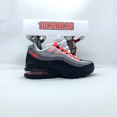 Nike Air Max 95 OG (PS) Black Solar Red 905461 007 Youth 3 Womens 4.5