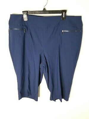 Style and Co 20w navy blue Skimmer midrise Cropped Pants bermudas Stretchy