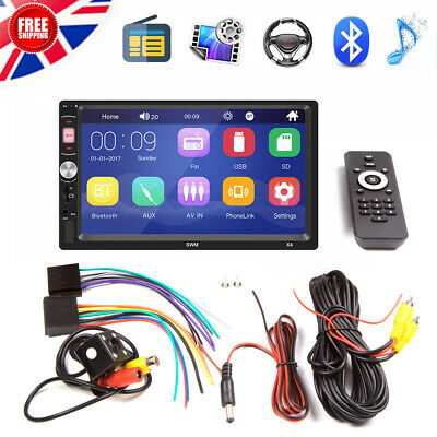 """7"""" inch Double Din Bluetooth Car HD Stereo Radio MP5 Player & Camera Mirror Link"""