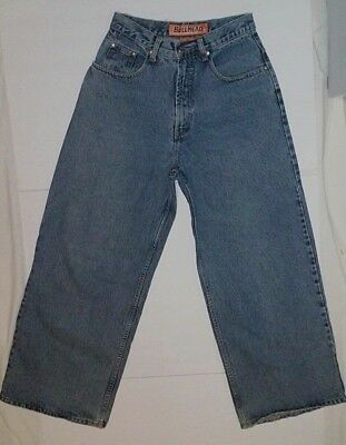 30af6412 BullHead Magneto Loose Wide Leg 28 x 30 Bored Out Junkyard Jeans VTG Bull  Head