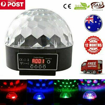 RGB Disco Party DJ LED Stage Effect Light Lamp Crystal Magic Ball DMX512