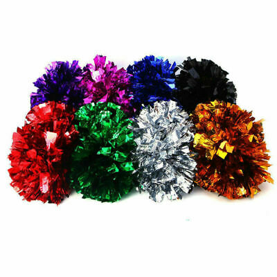 Colorful PomPom Soccer Cheerleader Cheerleading Cheer Dance Party Supplies