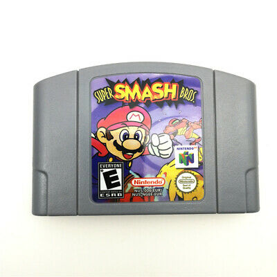 SUPER SMASH BROS Video Game Card Cartridge For Nintendo 64 console N64 -PAL