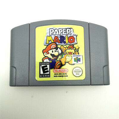 PAPER MARIO Video Games Game Card Cartridge For Nintendo 64 N64 console -PAL