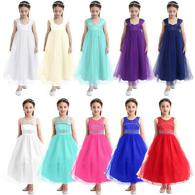 Flower Girl Princess Dress Kids Formal Pageant Wedding Gown Communion Tutu Dress