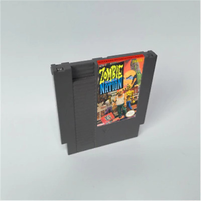 Zombie Nation 72 Pins 8 Bit Game Card Cartridge For NES Nintendo