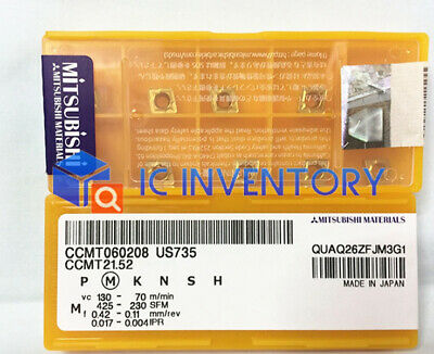 10PCS NEW Mitsubishi CCMT060208 US735 CCMT21.52 Carbide inserts