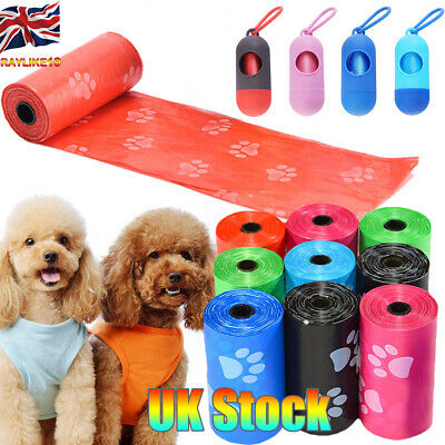 1~50 Pcs Dog Poop Bags Pet Waste Clean Up Refills On A Roll Doggy Cleaning Box