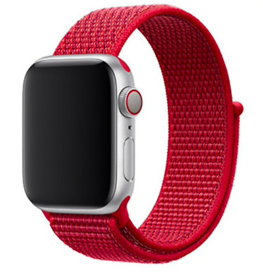 cinturino strap loop sport in nylon apple watch 42/44mm RED