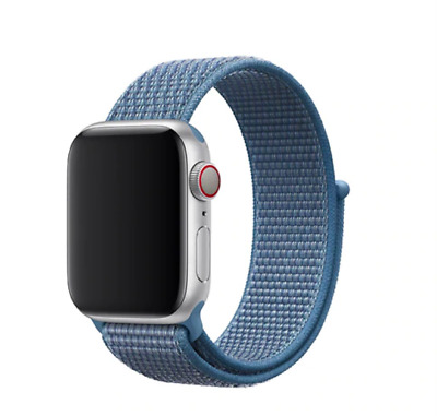 cInturino strap loop sport in nylon apple watch 42/44mm NEW BLU