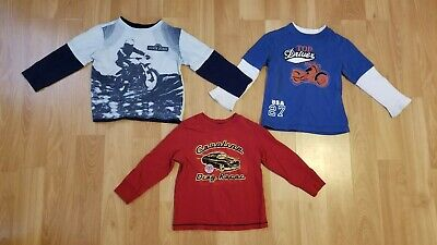 Set of 3 - Boys' Size 4T Long Sleeve Shirts Faded Glory & Old Navy