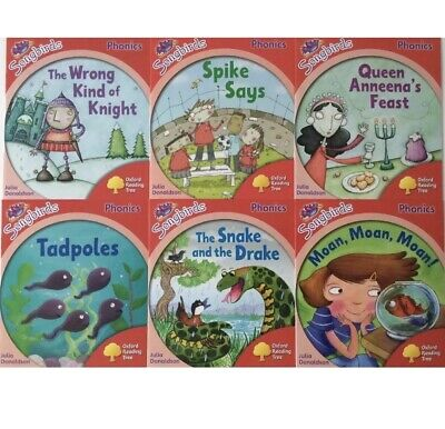 NEW Oxford Reading Tree 6 Books Level 4 Songbirds Phonics Set Julia Donaldson