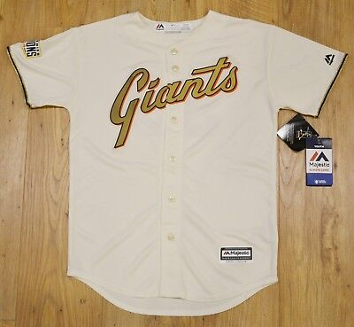 Tim Lincecum San Francisco Giants MLB Majestic Cool Base Youth jersey LARGE