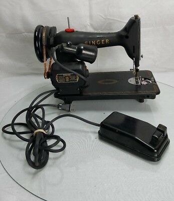 Vintage Singer Electric Needle Sewing Motor Machine Pedal AM 034195 Controller